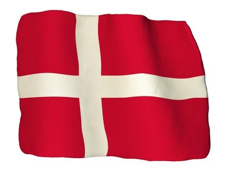denmark flag: Denmark flag of clay Stock Photo