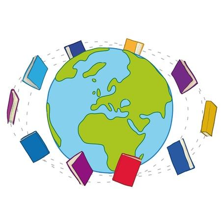 books around the world Stock Photo - 11655286