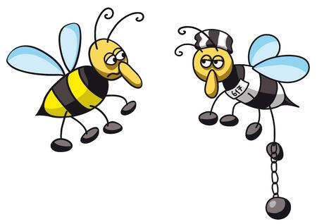 prisoner bee Stock Vector - 11655296