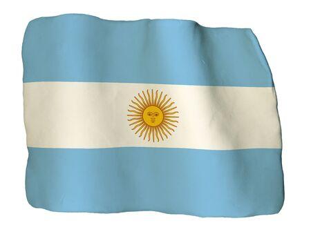 bandera argentina: Argentina bandera de arcilla