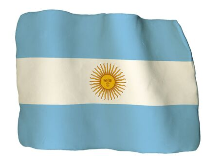 argentina flag: Argentina flag of clay