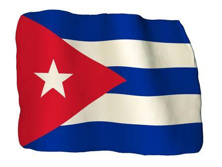 bandera cuba: La bandera de Cuba de la arcilla