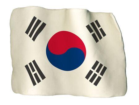 South Korea Flag of clay photo