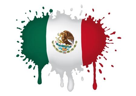 mexican flag: disegnare bandiera messicana Vettoriali