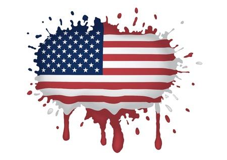 united states flag: sketch of the U.S. flag
