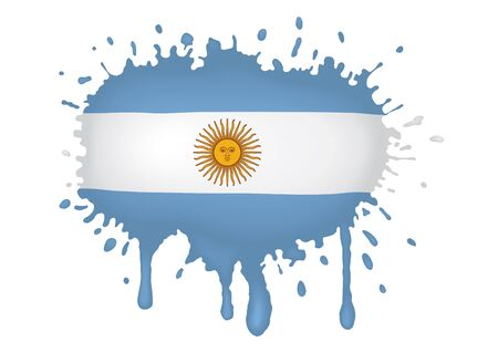 Argentina flag sketches Vector