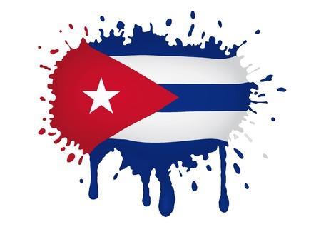 キューバの旗の scketch  イラスト・ベクター素材
