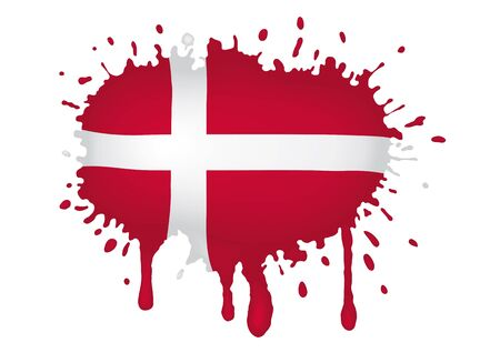 Denmark flag scketch Stock Vector - 11655322
