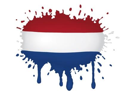 the netherlands: Nederland vlag scketch Stock Illustratie