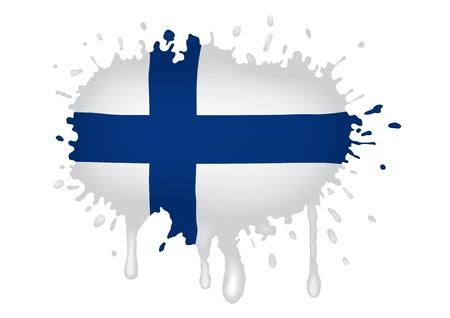 bandera de finlandia: Finlandia dise�o al lado del pabell�n