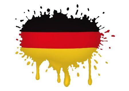 bandera de alemania: Alemania flag scketch