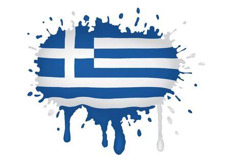 Greece flag scketch Vector