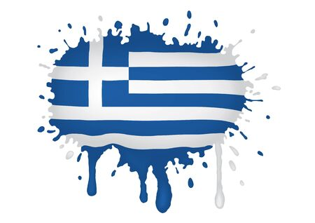 greece flag: Greece flag scketch