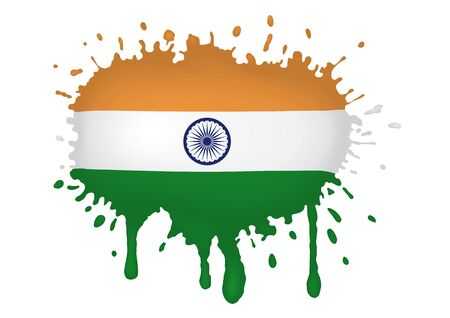 India flag scketch Vector