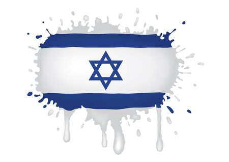 Israel flag scketch Vector