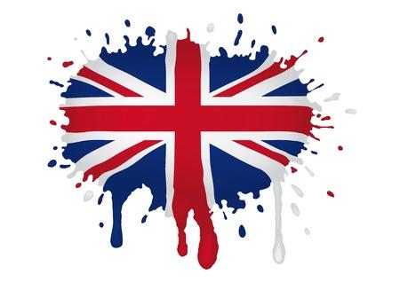 Briten: Gro�britannien Flagge scketch Illustration