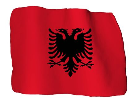 Albania flag of clay photo