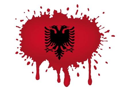 Albania flag sketches photo