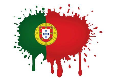 drapeau portugal: Esquisses de drapeau du Portugal Banque d'images