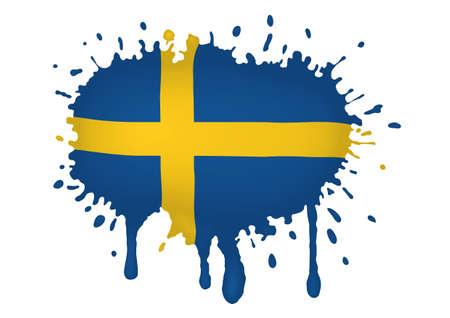 sweden flag: Svezia bandiera schizzi Archivio Fotografico