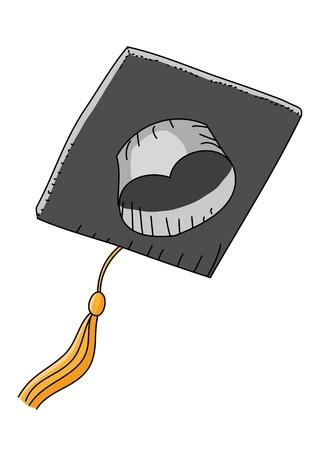 academic touch: graduation cap