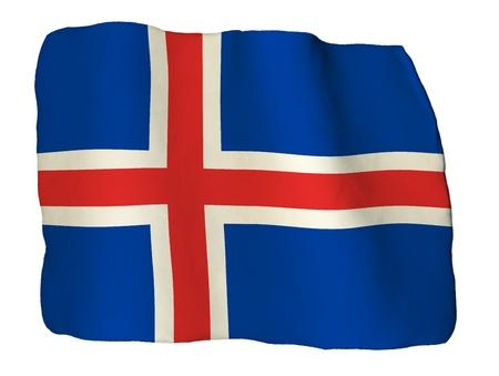 flag of iceland: Islandia bandera de arcilla Foto de archivo
