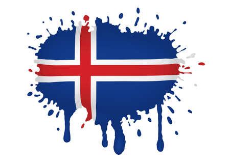 flag of iceland: Islandia bocetos de bandera