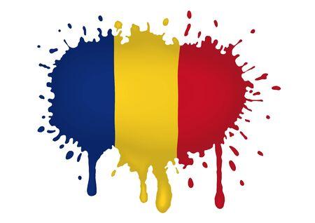 romania: Romania flag sketches