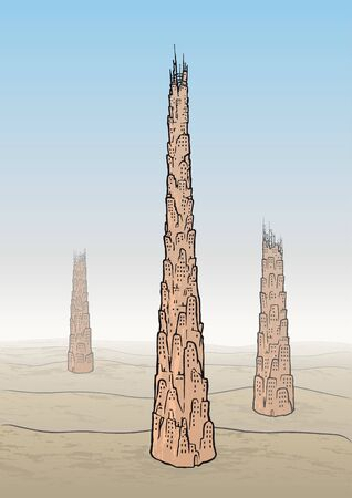 built tower: Tower of Babel Illustration
