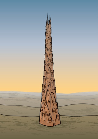 Tower of Babel Vector