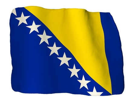 bosnia and herzegovina: Bosnia and Herzegovina flag of clay