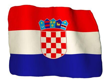 bandera de croacia: Croacia bandera de arcilla Foto de archivo