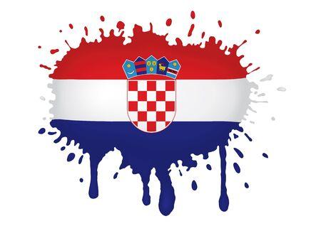 croatia flag: Croatia flag sketches Stock Photo