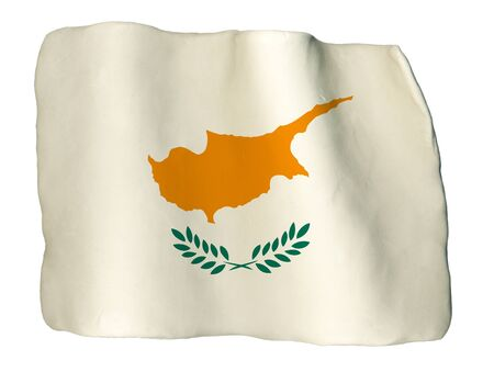 cyprus: Cyprus flag of clay Stock Photo