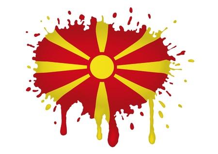macedonia: Macedonia flag sketches
