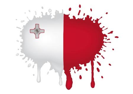 malta flag: Sketches Malta flag