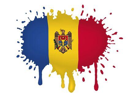 Sketches Moldova flag