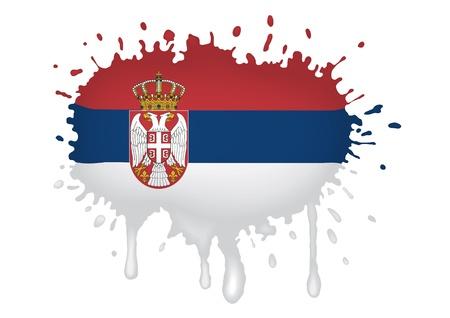 serbien: Serbien Flagge Skizzen Illustration