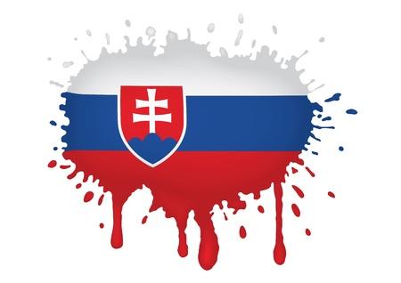 slovakia flag: Slovakia flags sketches