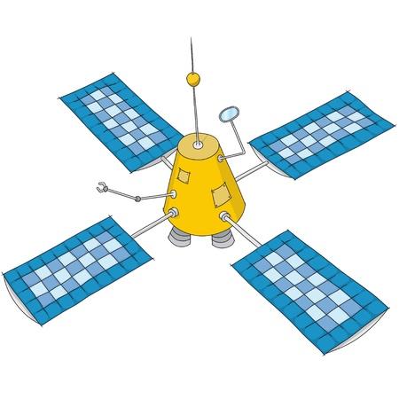 artificial satellite Stock Vector - 11715971