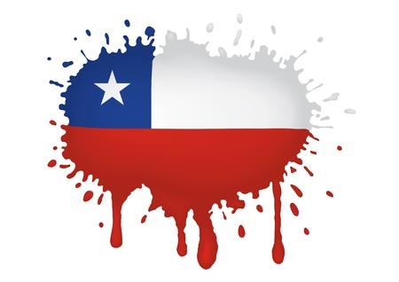 chile flag: Chile flag sketches Illustration