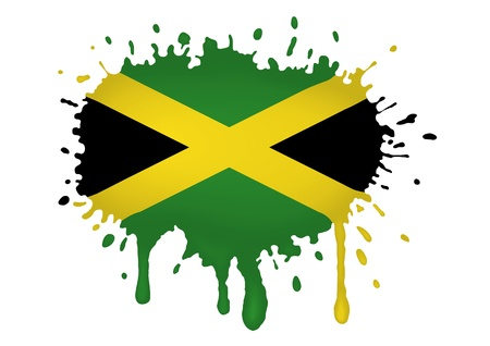 Jamaica flag sketches Vector