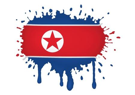north korea: North Korea flag sketches