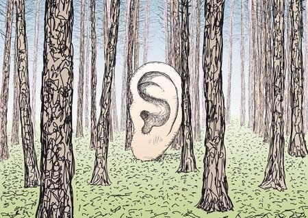 unconscious: ear Illustration