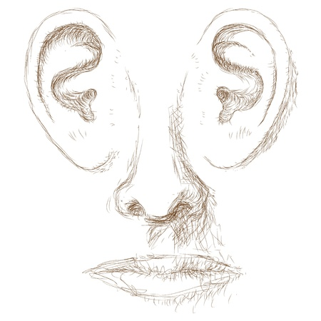 unconscious: ears face Illustration