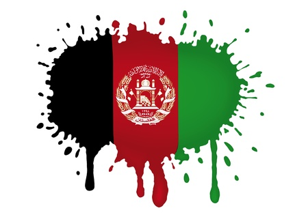 afghane: Afghanistan Skizzen Fahnen Illustration