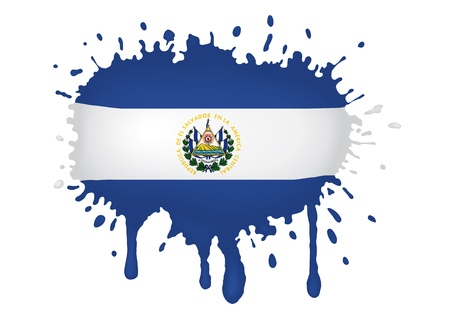 el salvador: El Salvador sketches flags Illustration