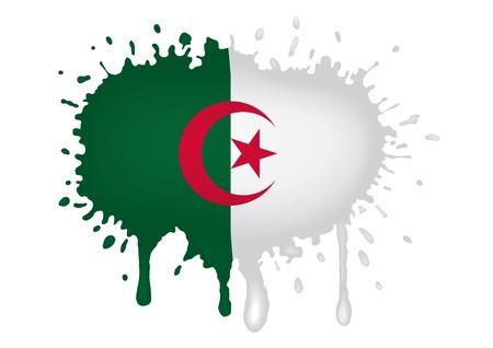 algerian flag: Algeria sketch flag