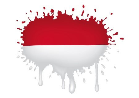 Indonesia sketch flag Stock Vector - 11964467