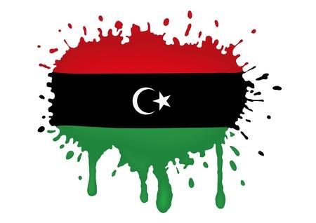 libyan: Libya sketch flag Illustration